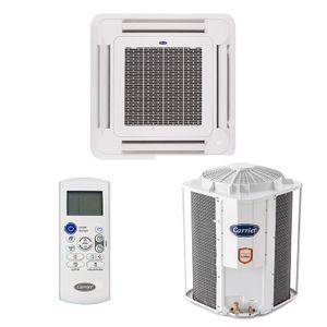 Ar Condicionado Split Cassete Carrier 57000 BTUs Quente e Frio 220v Trifásico