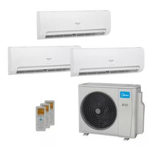 Ar Condicionado Multi Split Inverter Springer Midea 27.000 Btus (2x Evap Hw 9.000 + 1x Evap Hw 12.000) Quente E Frio 220v