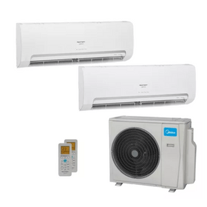 Ar Condicionado Multi Split Inverter Springer Midea 27000 Btus (2x Evap Hw 18000) Quente E Frio 220v