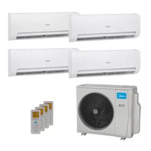Ar Condicionado Multi Split Inverter Springer Midea 42.000 Btus (3x Evap Hw 9.000 + 1x Evap Hw 24.000) Quente E Frio 220v